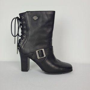 Harley Davidson Shanna Black Leather Boot Size 8.5